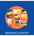 Branding Icon Concept Flat Design vector image vector image