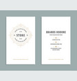 Business card vintage ornament style and luxury