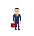 business man businessman stands holding leather vector image vector image