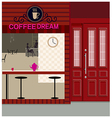 Cafe Shopfront Scene vector image vector image
