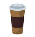 coffee cup icon fastfood isolated sweet food and vector image vector image