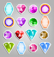 colored set gems bright realistic vector image vector image