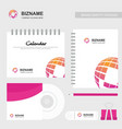 company calender with a unique design and logo vector image vector image