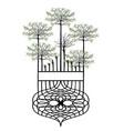 design element vintage trees vector image vector image