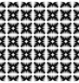 Design seamless monochrome abstract cross pattern vector image