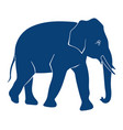 elephant silhouette on white background side view vector image vector image