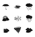 environment icons set simple style vector image vector image
