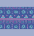 ethnic handmade aztec antique textile fashion vector image