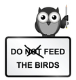 Feed Birds vector image vector image