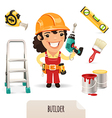 female builder set vector image vector image