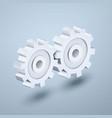 gears 3d icon vector image vector image