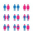 gender symbol set vector image vector image