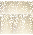 gold shiny bokeh backgrounds vector image