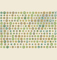 green gray and brown dots texture on beige vector image vector image