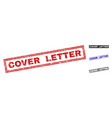 grunge cover letter textured rectangle watermarks vector image vector image