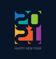 happy new year 2021 vertical poster cover of vector image vector image