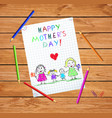 homosexual lgbt family with children badrawing vector image vector image