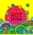 hot autumn sale advertisement banner vector image vector image