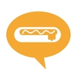 hot dog delicious fast food isolated vector image