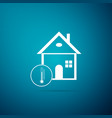 house temperature icon isolated thermometer icon vector image