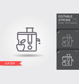 juicer line icon with editable stroke with shadow vector image