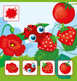 Ladybird With Red Strawberries vector image