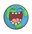 laughing planet earth cartoon vector image vector image