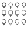 Map pointers icons vector image
