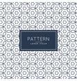 modern flower line pattern background vector image vector image