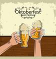 oktober beer festival vector image vector image