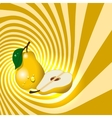 Pear fruit with water drops vector image vector image