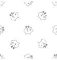 piggy bank pattern seamless vector image vector image