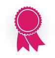 pink winner medal vector image