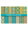 plaid pattern seamless ornate set summer vector image vector image