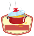 Pot and sign vector image vector image