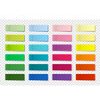 realistic sticky notes collection post note vector image