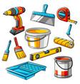 repair working tools set equipment vector image vector image