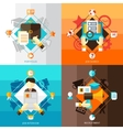 Resume 2x2 Design Concept Set vector image vector image