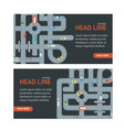 road banner card vector image