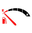 running on empty vector image