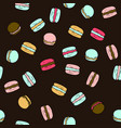 seamless pattern with doodle sweet french vector image vector image