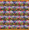 seamless pattern with mosaic vector image