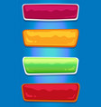 set bright colorful patterns push-buttons vector image