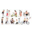 set of couple in love different romantic vector image vector image