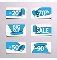 Set of Paper Stickers for Stock Sales vector image vector image