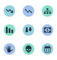 set of simple crisis icons vector image vector image