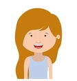 silhouette half body girl smiling with blonde hair vector image vector image