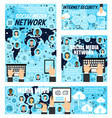 social network media news internet security vector image vector image