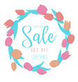 spring sale flowers vector image vector image