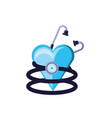 stethoscope medical tool with heart vector image vector image